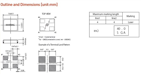 金属面4p石英晶振,csx-1612晶振 负载电容 有源晶振振荡电路中负载